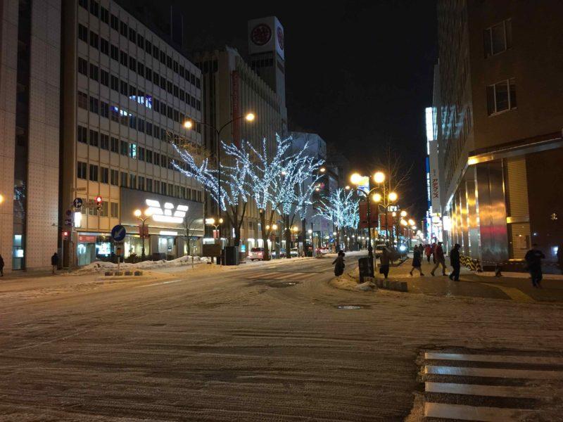 交差点の積雪状況