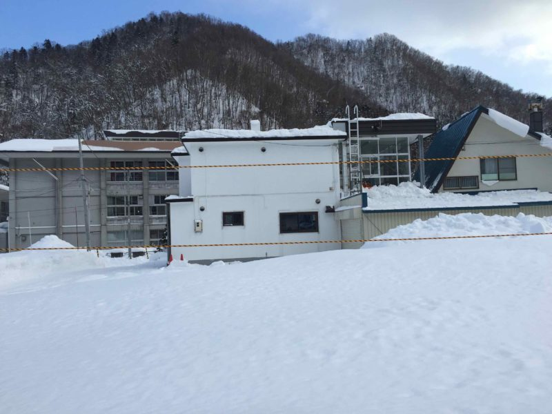 定山渓温泉の積雪状況