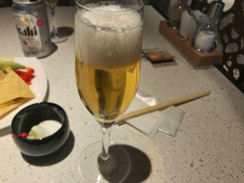ヒルトン東京お台場のカクテルアワーのビール