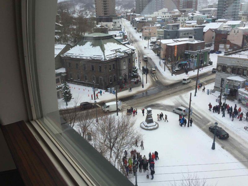 ルタオ本店の展望台からの眺め