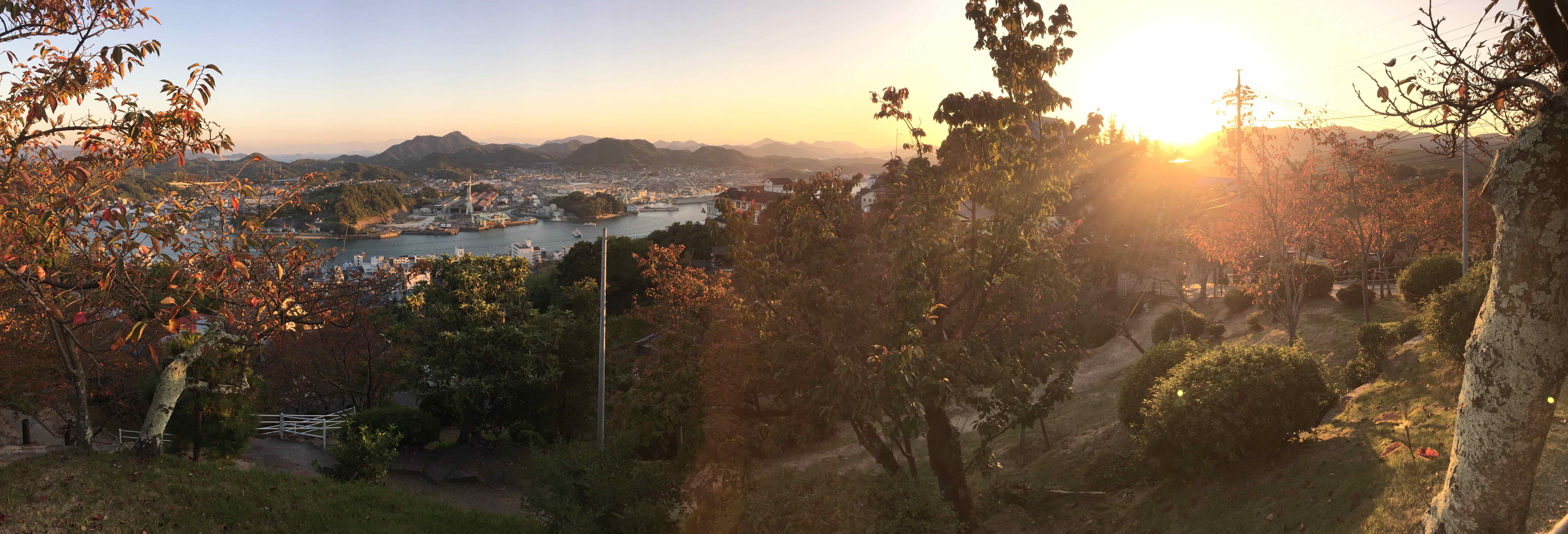 千光寺公園からの夕陽