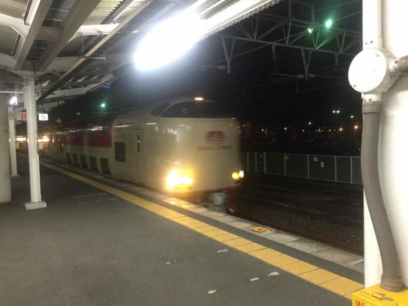 倉敷駅のサンライズ出雲