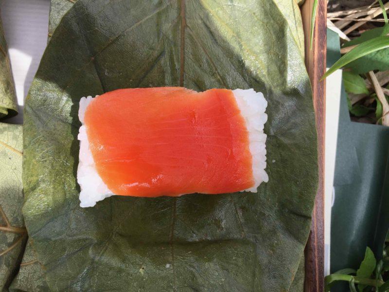 鮭の柿の葉寿司