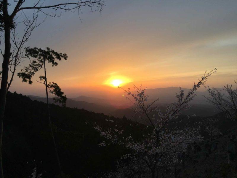 吉野山の夕陽2
