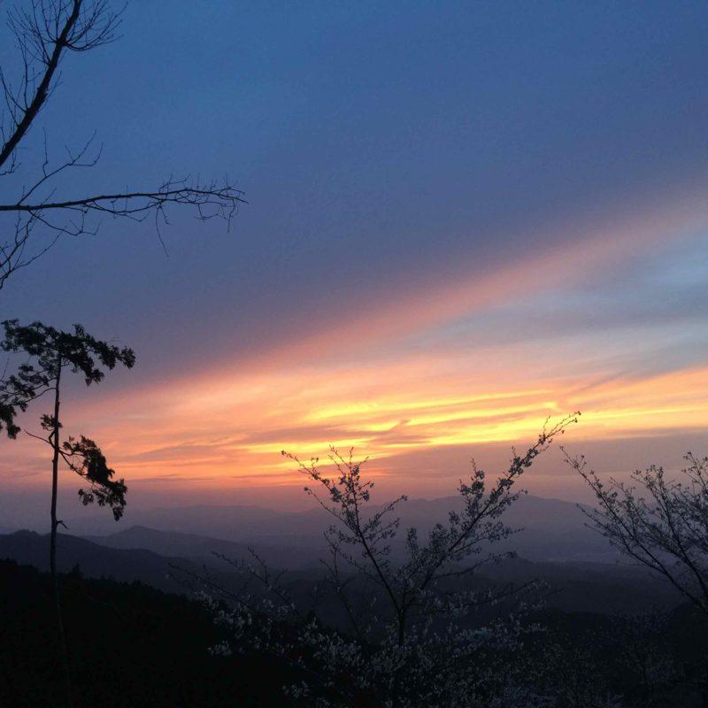 吉野山の夕陽3
