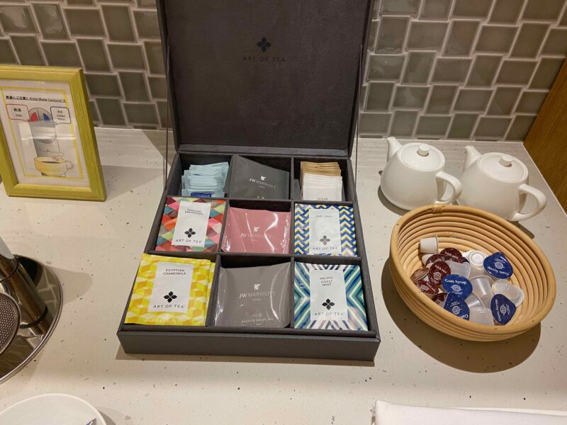 煎茶、紅茶、ほうじ茶、ミントティーなど